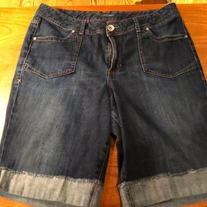 Lane Bryant Long Denim Shorts